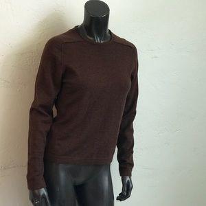 Wool Sweater Lord & Taylor chocolate brown EUC